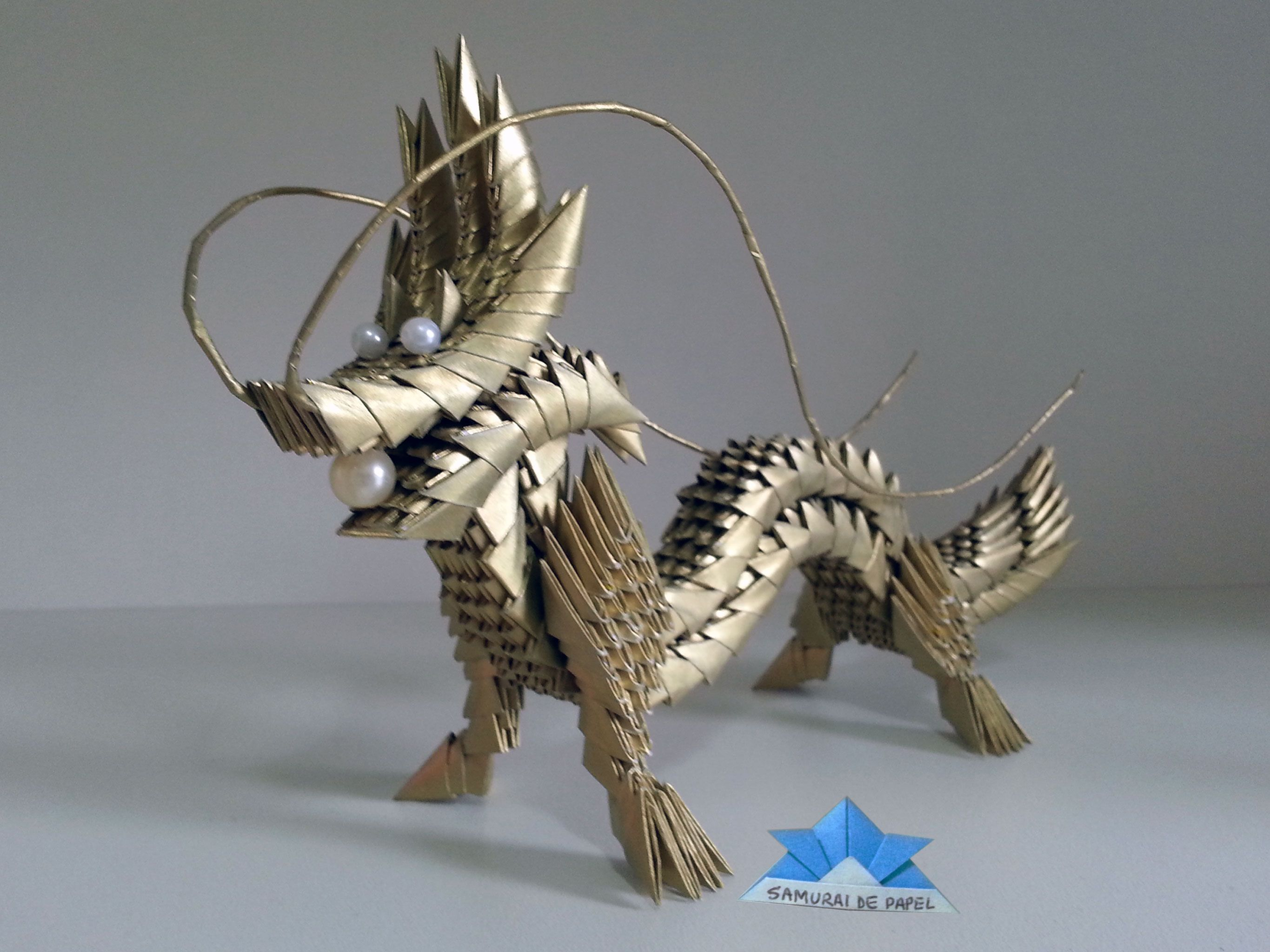 Origami 3D - Dragão - Dragon | Samurai de Papel ... - photo#9