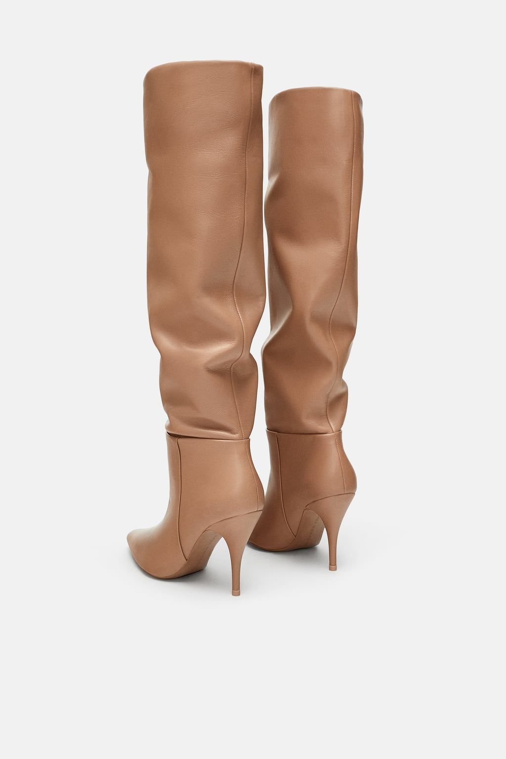 b7b359936d0 Image 5 of SOFT LEATHER HIGH HEELED BOOTS from Zara | Buty w 2019 ...