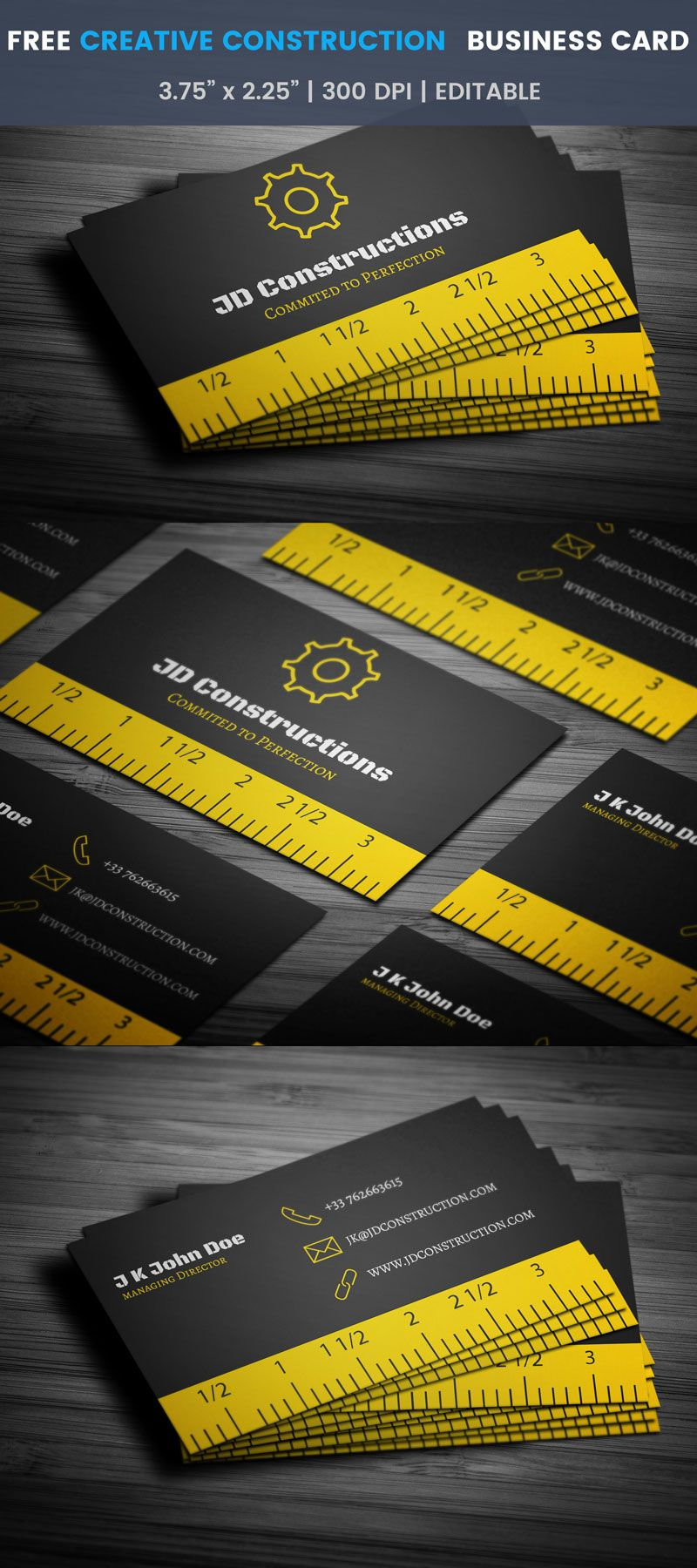 Creative construction business card full preview free business creative construction business card full preview friedricerecipe Images