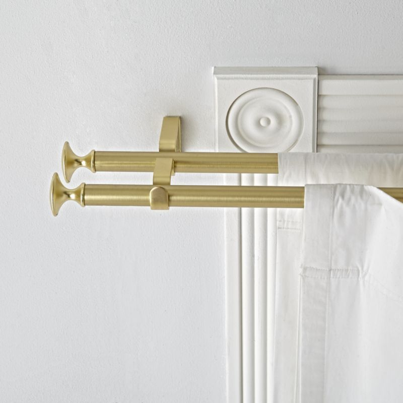 Shop Double Gold Curtain Rod Sturdy Sleek And Versatile Our