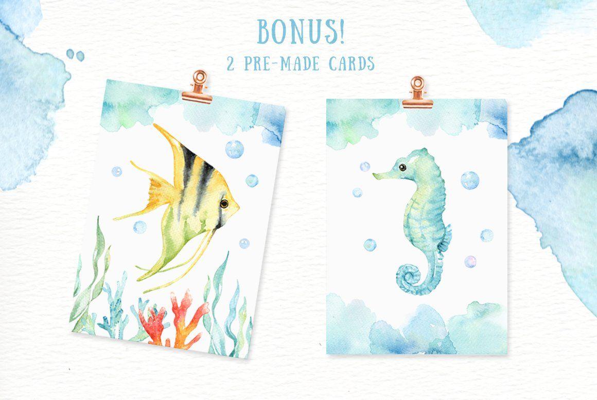 Under The Sea Watercolor Cliparts Sea Cliparts Watercolor