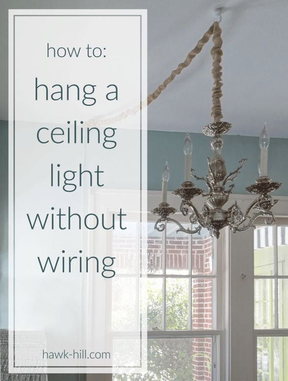 Instructions for hanging a ceiling light without ceiling ... on