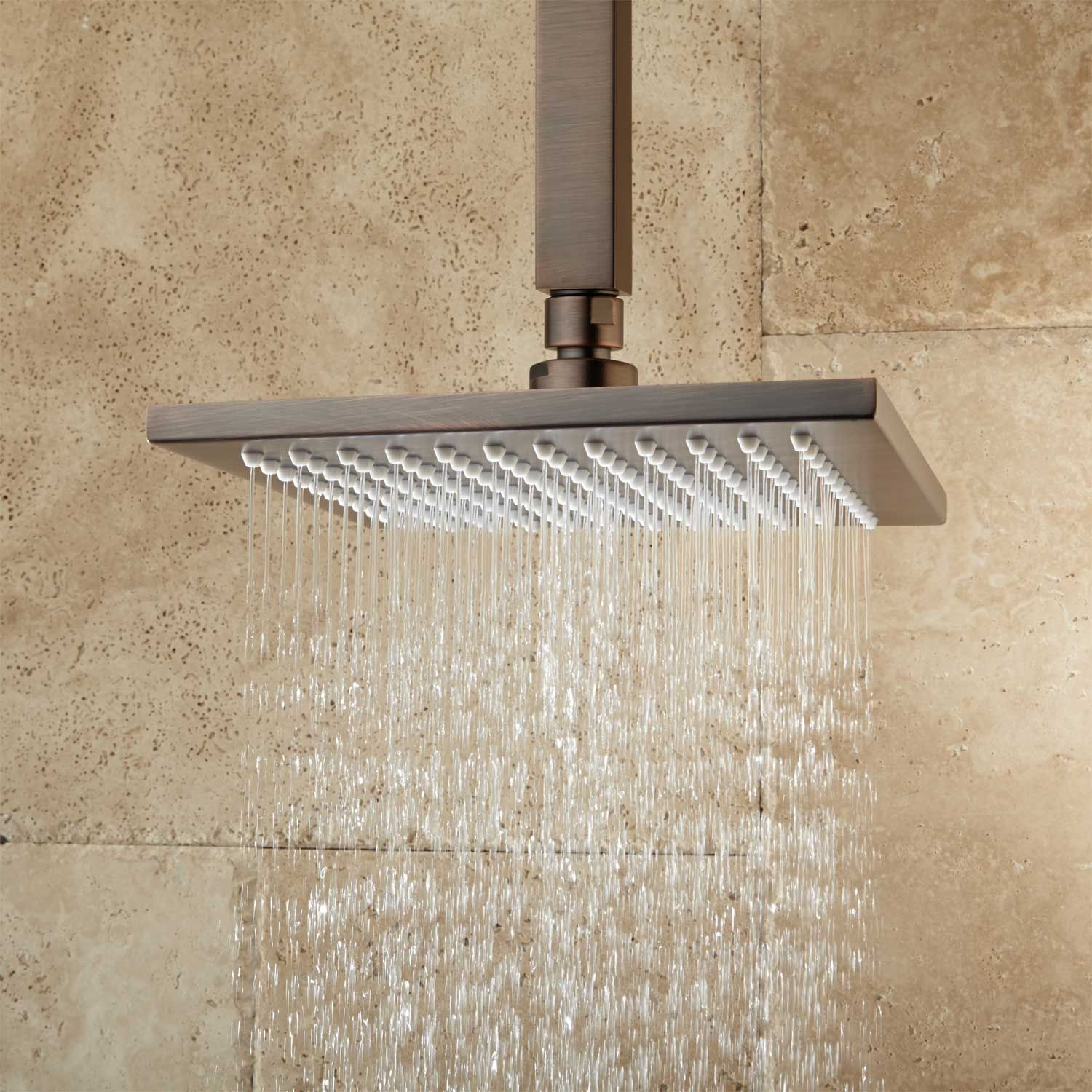 Oversized Square Stainless Steel Shower Head Rain Showers