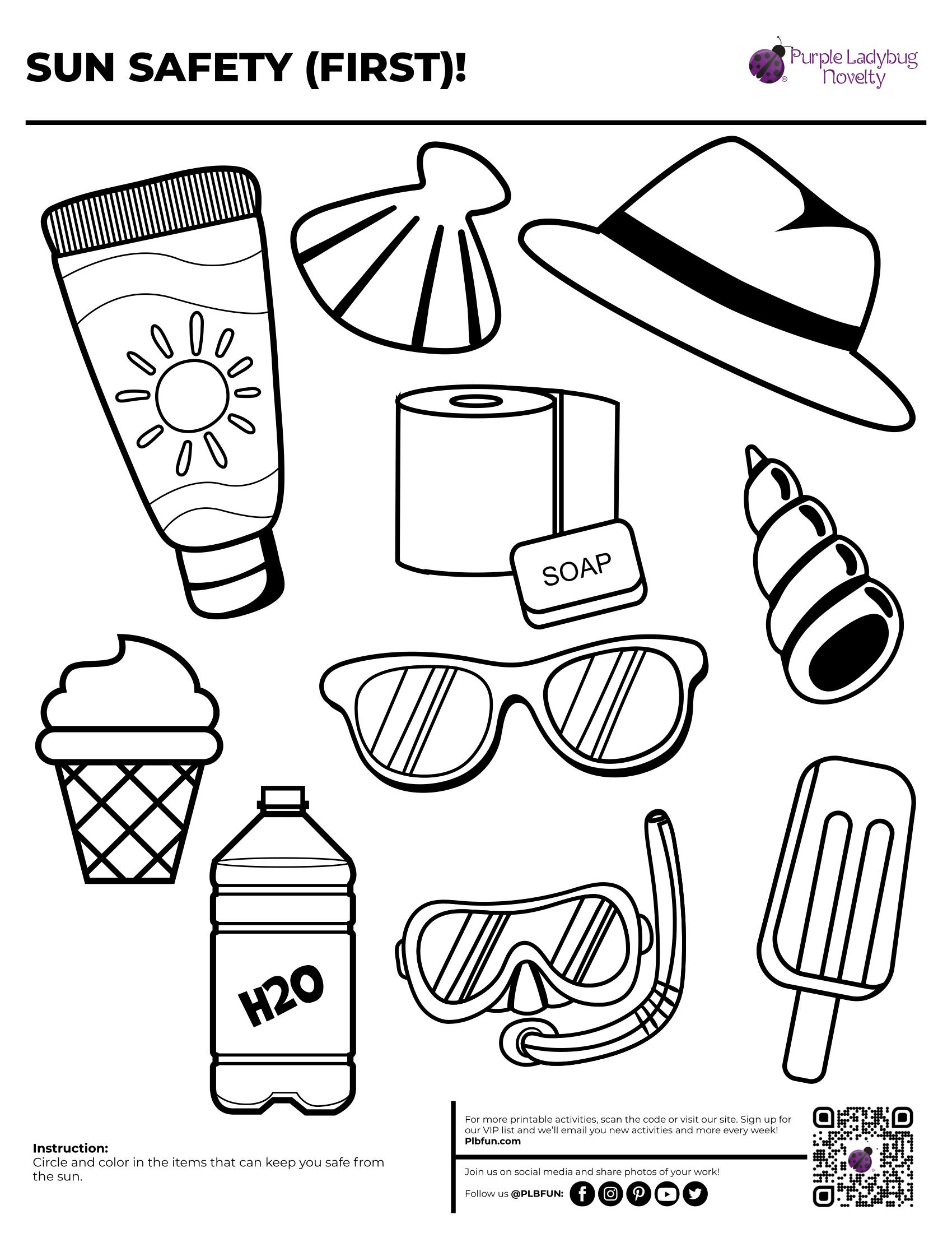 Sun Safety Checklist By Plbfun In