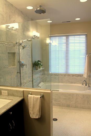 Walk Thru Shower To Tub Bathtub Remodel Tub To Shower