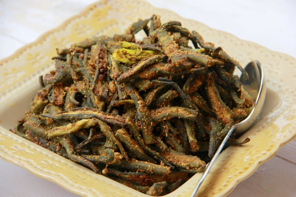 Chatpati Bhindi Okra made in Air Fryer Recipe Air