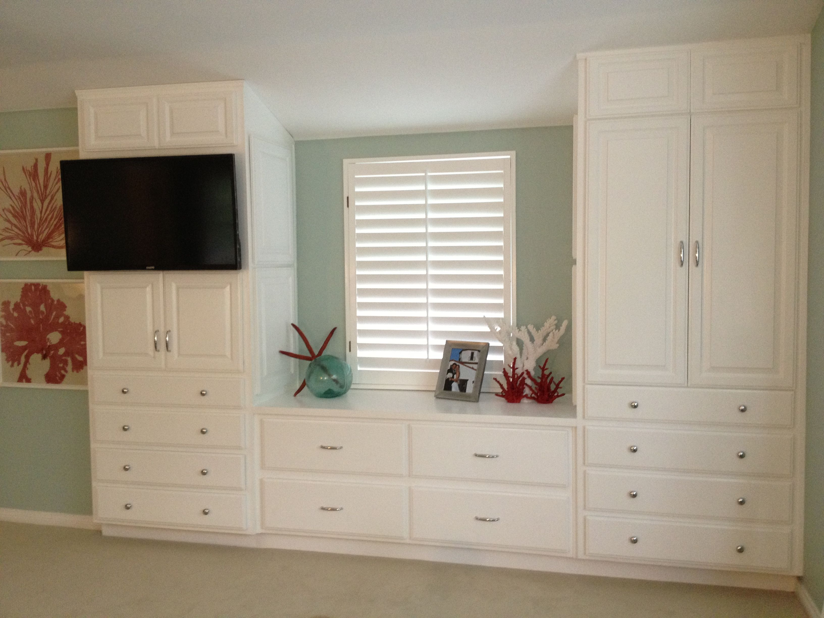 Master Bedroom. Built In Cabinet Complete! Palladian Blue