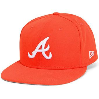 ... mens atlanta braves new era orange basic 59fifty fitted hat  boston red  sox new era mlb team dog ear 59fifty cap ... 20dbdf963e6c