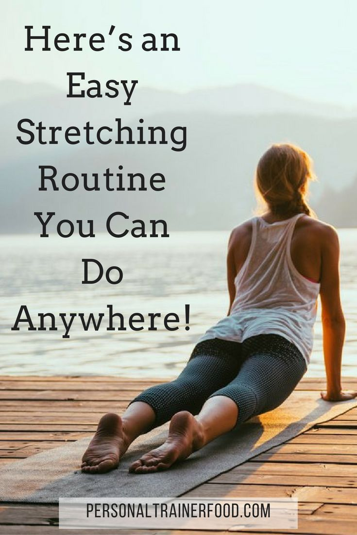 Who doesn't need to stretch more?  That's why we've put together this easy routine of some of the best stretching exercises that you can do anytime, anywhere, and even at home– there's no gym required! Read more at http://personaltrainerfood.com @PTrainerFood