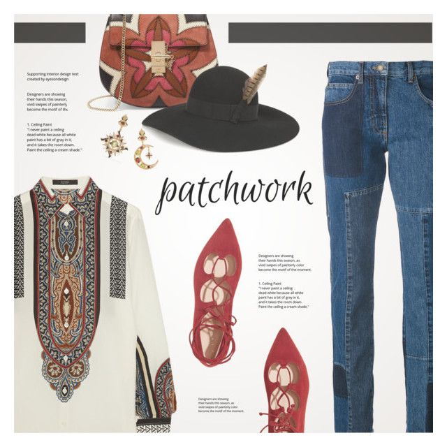 """Patchwork"" by redflowergirl ❤ liked on Polyvore featuring Chloé, Diego Percossi Papi, Etro, Yves Saint Laurent, McQ by Alexander McQueen and patchwork"