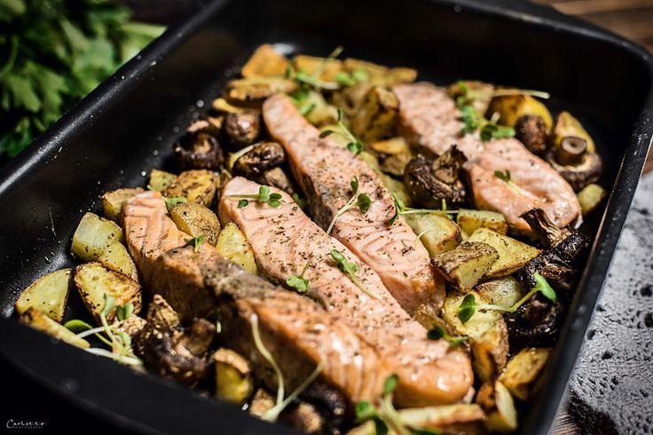 Lachs aus dem Ofen mit Rosmarinkartoffeln   - Kochen für alle -