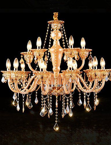 Modern Retro Luxury Chandeliers Classic Living Room Bedroom Dining Crystal Pendant 110 120v