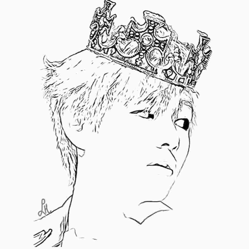 Bts V Coloring Pages Bts Drawings Kpop Drawings