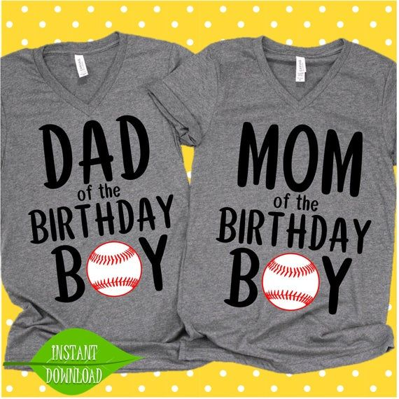 Mom and Dad of the Birthday Baseball svg, Baseball party ...