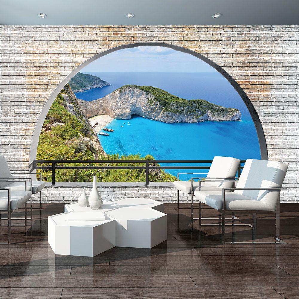 Poster Tapete Fototapete Wandbild Insel Wasser Natur Ozean Stein ...