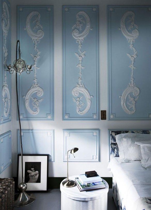 Beautiful molding in historic bedroom