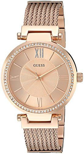 GUESS Womens U0638L4 Rose GoldTone Wired Bracelet with SelfAjustable ... 412888f736