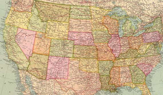 Old map of united states of america map digital download maps old map of united states of america map digital download gumiabroncs Images