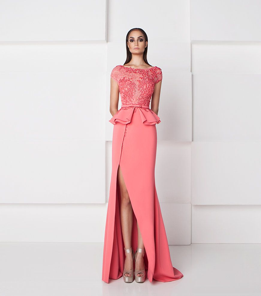 SK by Saiid Kobeisy Embroidered Peplum Gown 2768 | Saiid Kobeisy ...