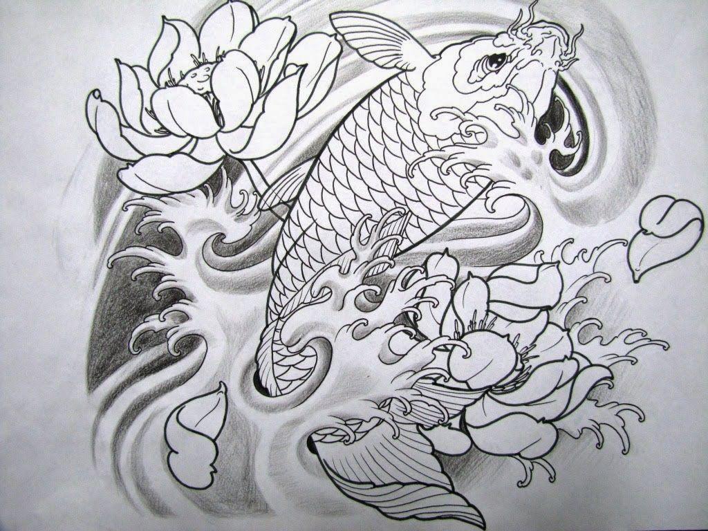 Desenhos De Tatuagens Para Downloads Gratis Carpas Desenhos