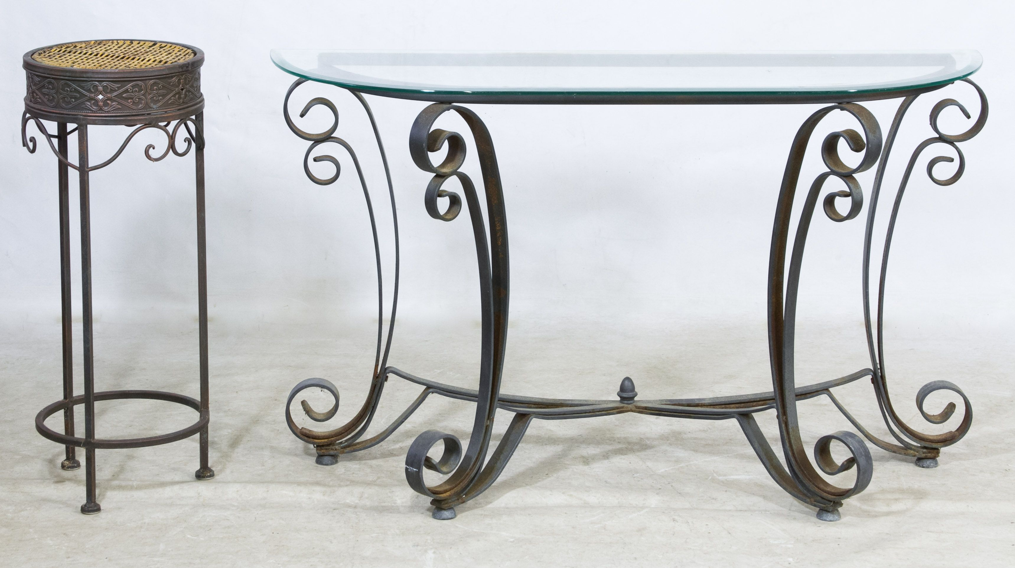 Metal And Glass Foyer Table And Plant Stand Foyer Table Table