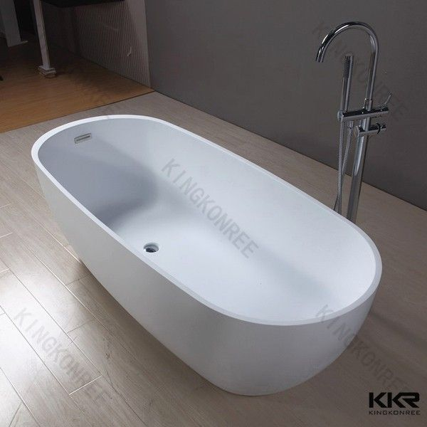 European Matte Black Artificial Stone Freestanding Bath - Buy ...