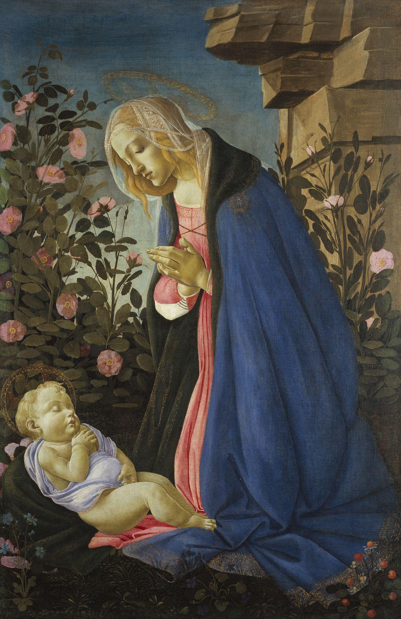 Sandro Botticelli - Madonna che adora il Bambino addormentato - c.1490 - tempera e oro su tela - National Gallery of Scotland, Edimburgo