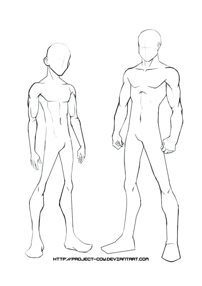 Anime Boy Template Drawing