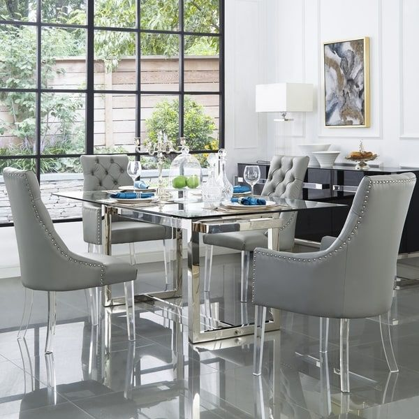 Inspired Home Judy Acrylic Leg Dining Chairs Set Of 2 Dining Chair Set Upholstered Dining Chairs Dining Chairs