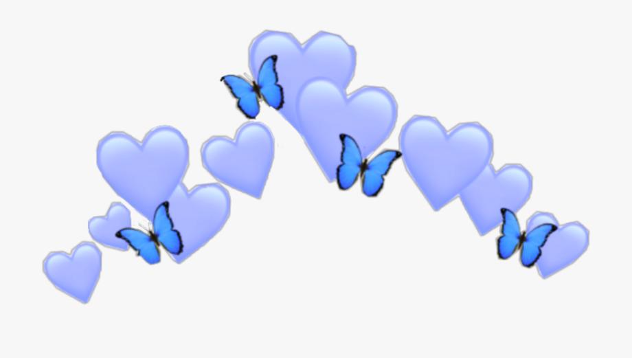 Download Blue Heart Emoji Crown Butterfly Girl Boy Cute Blue Heart Emoji Crown To Explore More Related Clipa Blue Heart Emoji Heart Emoji Blue Heart