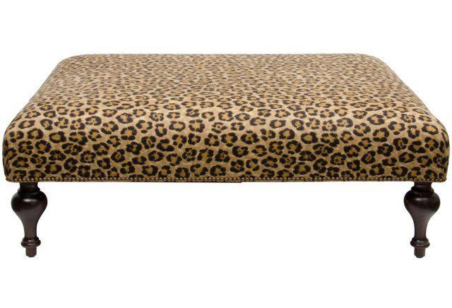 Ralph Lauren Leopard Upholstered Ottoman Upholstered Ottoman Couch With Ottoman Upholstered Ottoman Coffee Table