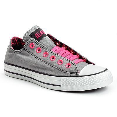 converse grises con rosa