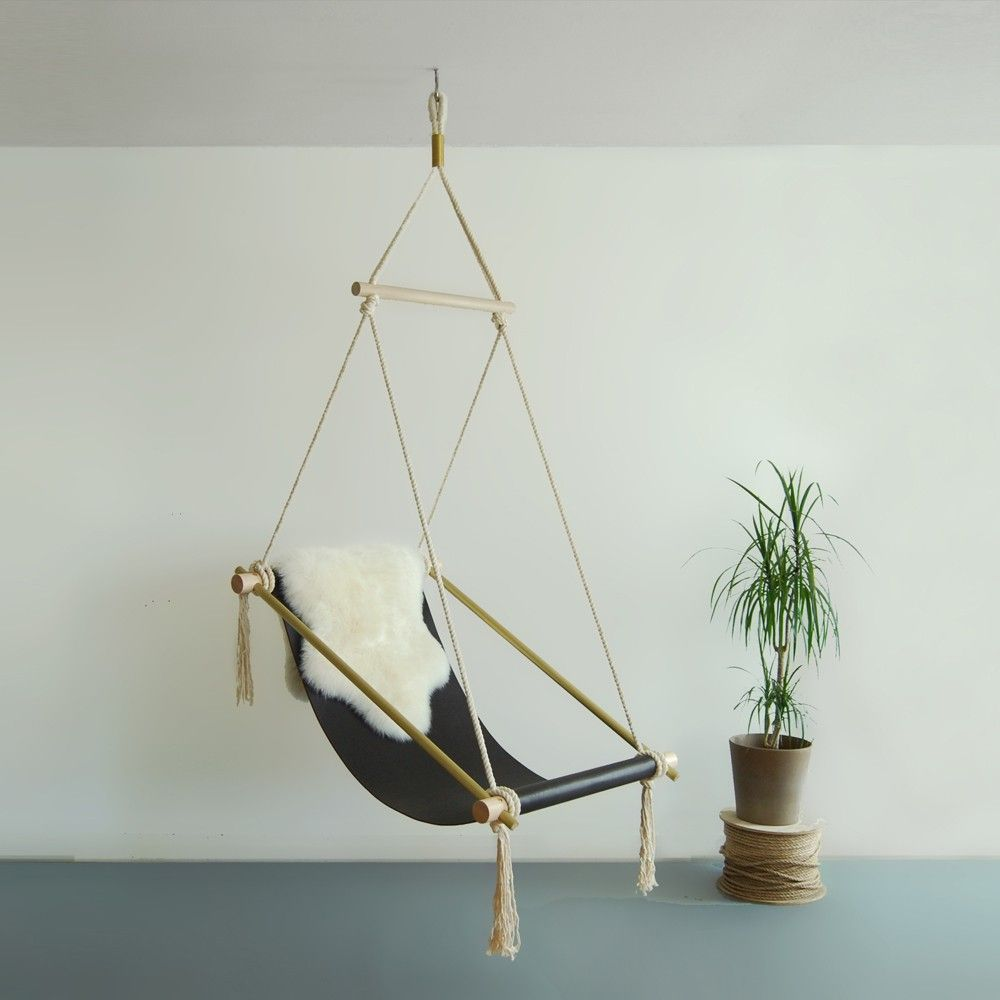 This hanging chair is like a chic indoor hammock 목공수업
