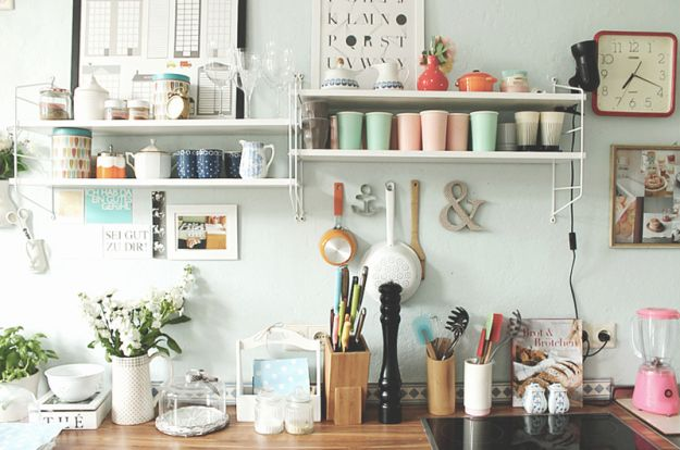 String Regale in der Kueche HOME - KITCHEN Pinterest String - kleine regale für küche