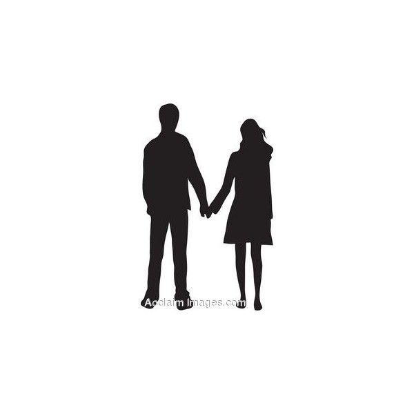 Walking In Love Clip Art: Clip Art Of A Couple Holding Hands Silhouette Found On