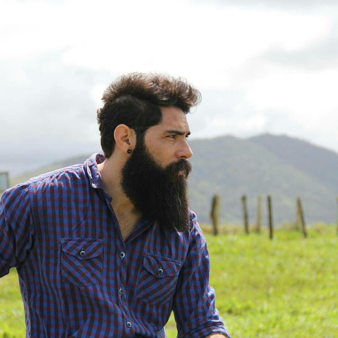 V style haircut men because beards  beardtattoo  pinterest  facial hair