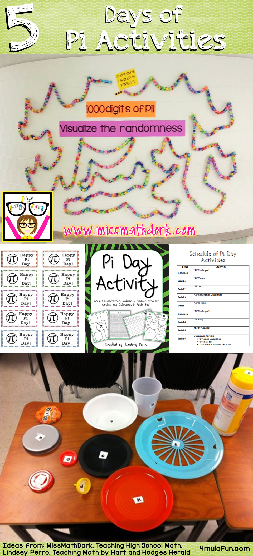 Looking for Pi Day Activitites? Check out the 5 Days of Activities from five different teachers!