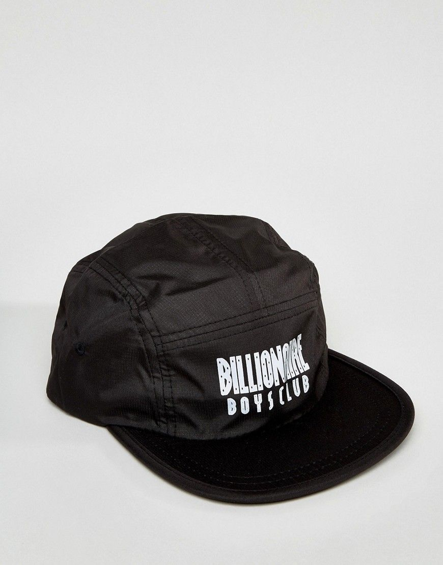 a775c1d3292 Billionaire Boys Club 5 Panel Cap With Reflective Logo in Black - Blac