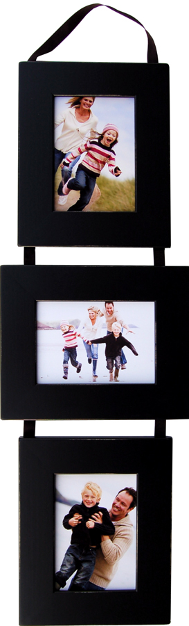 5x7 Three Opening Collage Picture Frame Set PLP - Three Black Frames ...