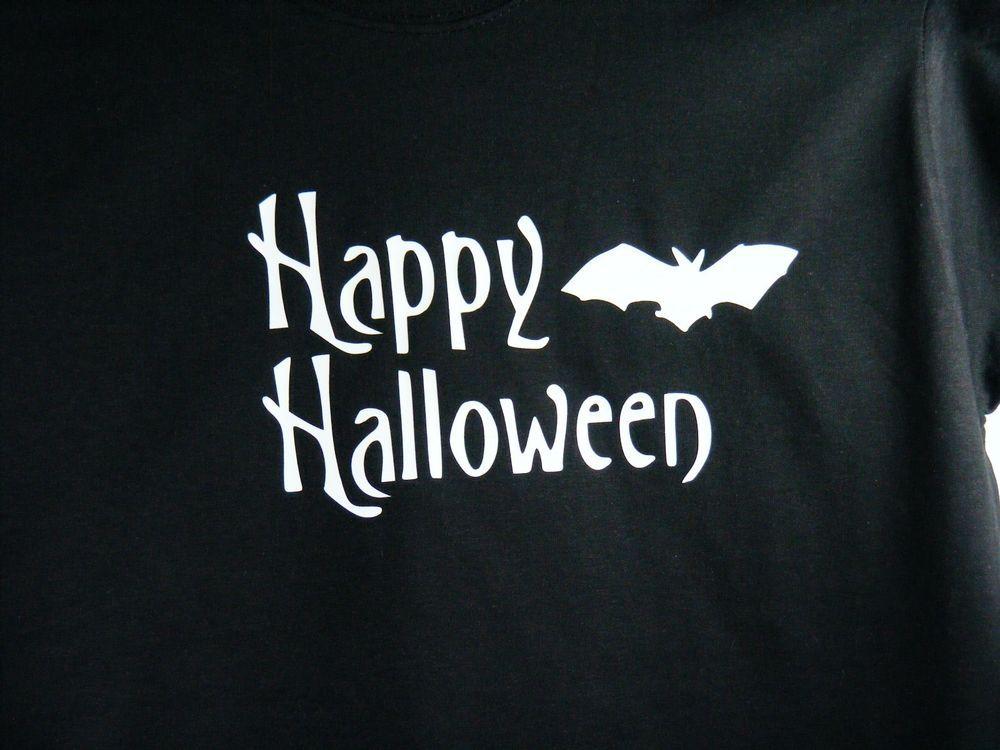 Unisex Youth Kids Medium M Glow in the Dark Happy Halloween Shirt #FruitoftheLoom #Holiday
