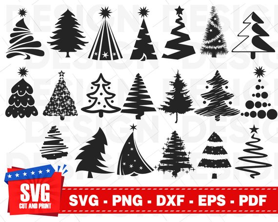 Christmas Tree Svg Bundle Merry Christmas Svg Christmas Tree Etsy In 2020 Christmas Svg Tree Svg Flower Svg