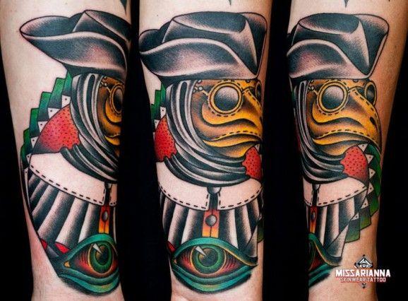 b4334523d93e5 Old school style medico della peste by Miss Ariana. Doctor Tattoo, Tattoo  Blog,