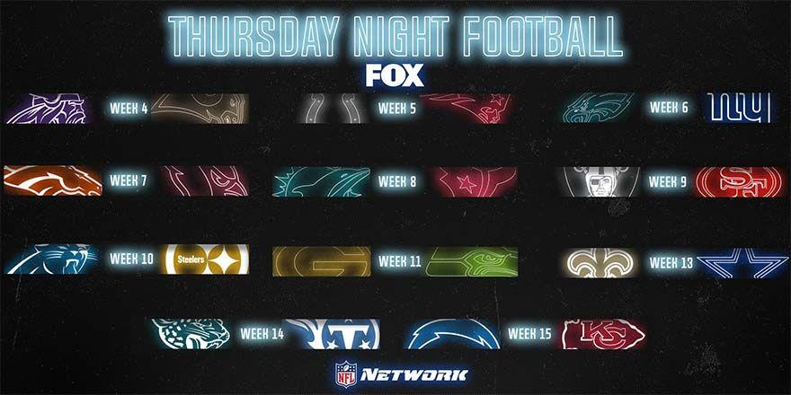 NFL Thursday Night Football Schedule 2019 Thursday night