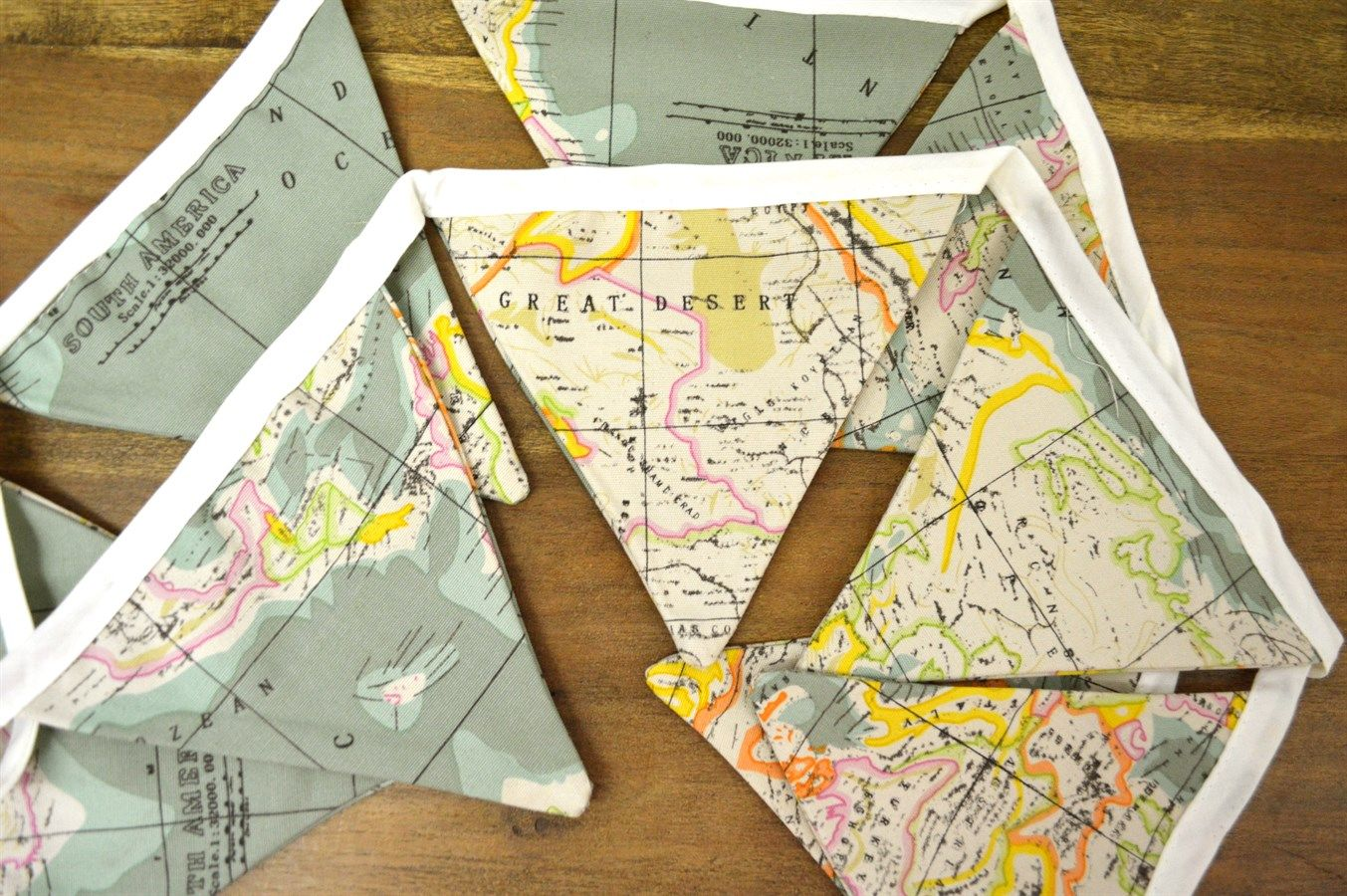 World map fabric flag bunting map fabric buntings and flags fabric flag buntings blow out gumiabroncs Images