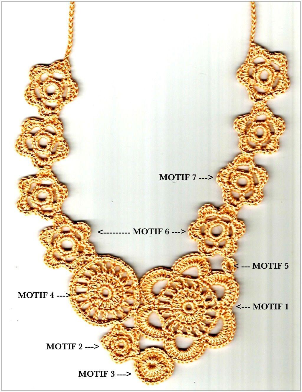Patrón. | flores de crochet | Pinterest | Patrones, Collares y Ganchillo