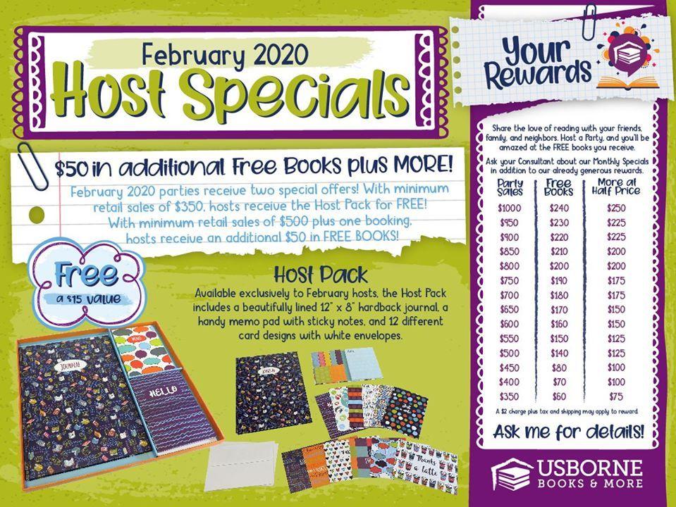 February Hostess Rewards Free Books Usborne Books More Usborne Books Usborne Books Party Usborne