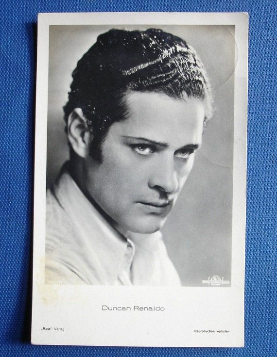 Renault Renaldo Duncan - American actor - Original old postcard - Real Photographic (RP) - SIZE:14x9 cm.(5,5x3,5 inches) by SkandiVintage44 on Etsy