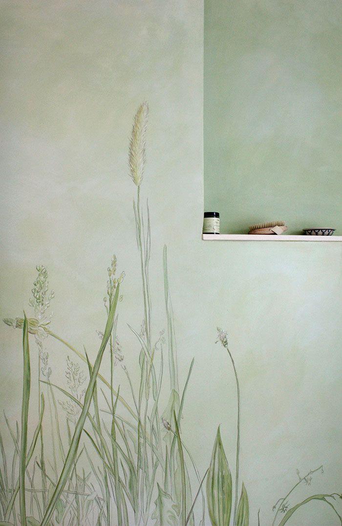 Malerei Im Bad Mit Gräser Bad Einrichten, Wohnung Einrichten, Praxis  Einrichtung, Hauswand,