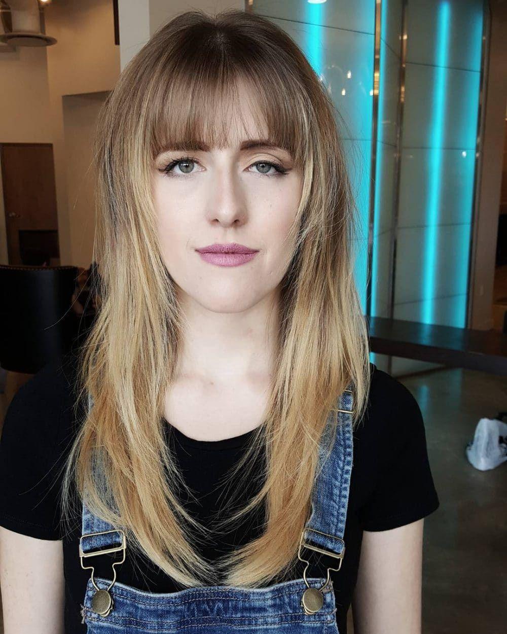 Frisuren Die Sie Lange Haare Mit Pony Machen Wollen #neueFrisuren