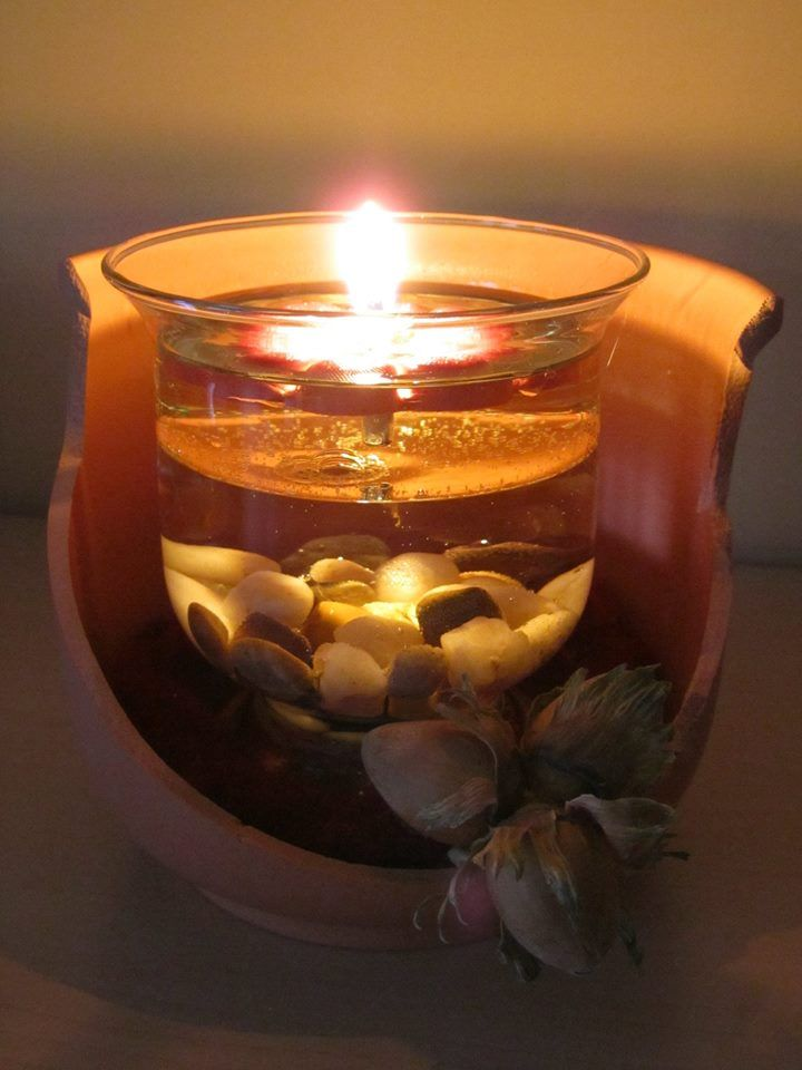 kerzen dekoration mit der erfurter feuerblume einem wiederverwendbaren schwimmlicht das. Black Bedroom Furniture Sets. Home Design Ideas
